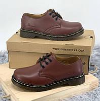 Dr Martens Low Cherry 1461   мужские и женские; дерби; доктор мартенс; вишневого цвета; кожаные туфли/мокасины