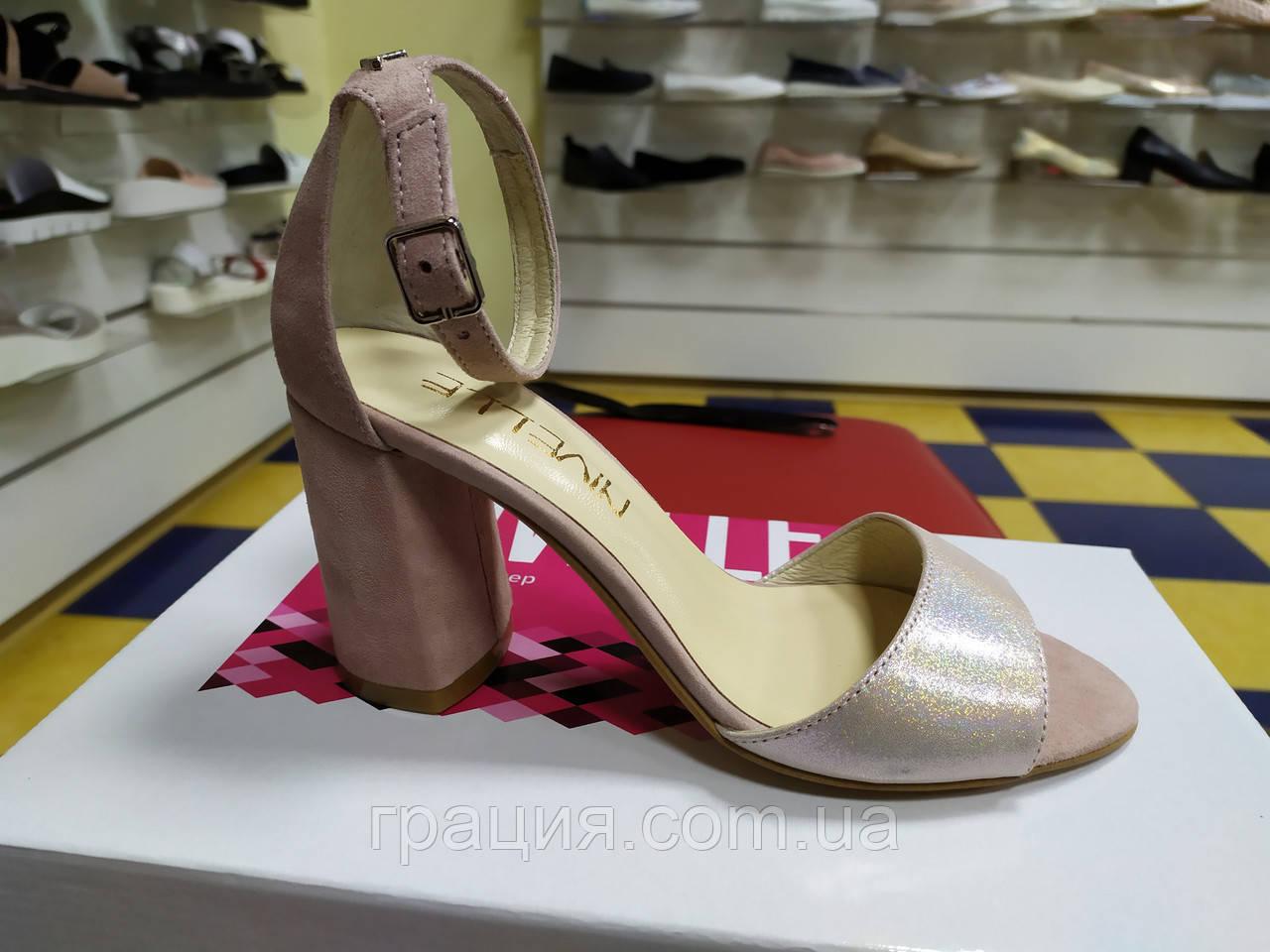 15f2708d404cd0 Элегантные женские замшевые босоножки на каблуке с закрытой пяткой ...