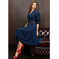 Женское дизайнерское стильное платье королевского темно синего цвета
