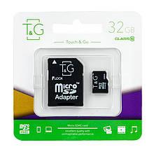 Карта памяти T&G micro SDHC 32 GB Class 10 +адаптер