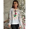 Белая женская вышитая блуза вышиванка White 4