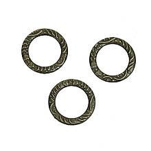 Кольцо закрытое круглое 14 мм бронза для рукоделия