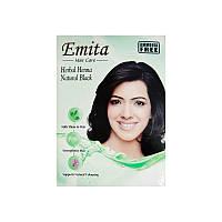 "Краска Эмита для волос на основе хны без аммиака ""Черный"" 60 г"