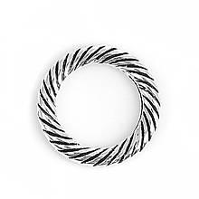Кольцо закрытое круглое 13 мм жгут античное серебро для рукоделия