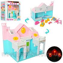 Домик для кукол с мебелью,19 см, Мебель Музыка Свет, на бат. Будиночок з меблями 116A 010094