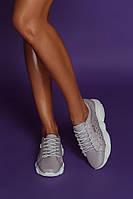 Женские кроссовки из натуральной кожи с лаковым напылением и перфорацией