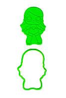 Вырубка с оттиском для пряников Кукла Лол 12 см (5)