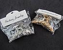 Крабы для волос металл с жемчугом 6*3 см два цвета 4 шт/уп., фото 2