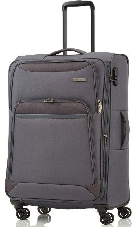 Средний тканевый чемодан Travelite KENDO TL090348-04 56 л, серый