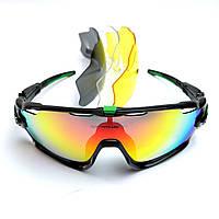 Спортивные вело очки Oakley со сменными линзами, поляризация + чехол