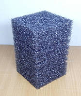 Фильтрующая губка, крупнопористая квадратная 15х10х10 см