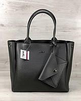 2в1 Молодіжна сумка Аланна сірого кольору, фото 1