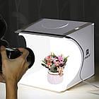 Портативная мини фото студия Puluz 20*20*20 см. Лайтбокс Puluz с LED подсветкой. Фотобокс, фото 2