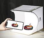 Портативная мини фото студия Puluz 20*20*20 см. Лайтбокс Puluz с LED подсветкой. Фотобокс, фото 9