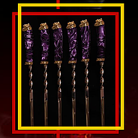 """Набор шампуров ручной работы """"Mysterious stranger"""" (6шт, 3мм) в кожаном колчане (наличие уточняйте)"""