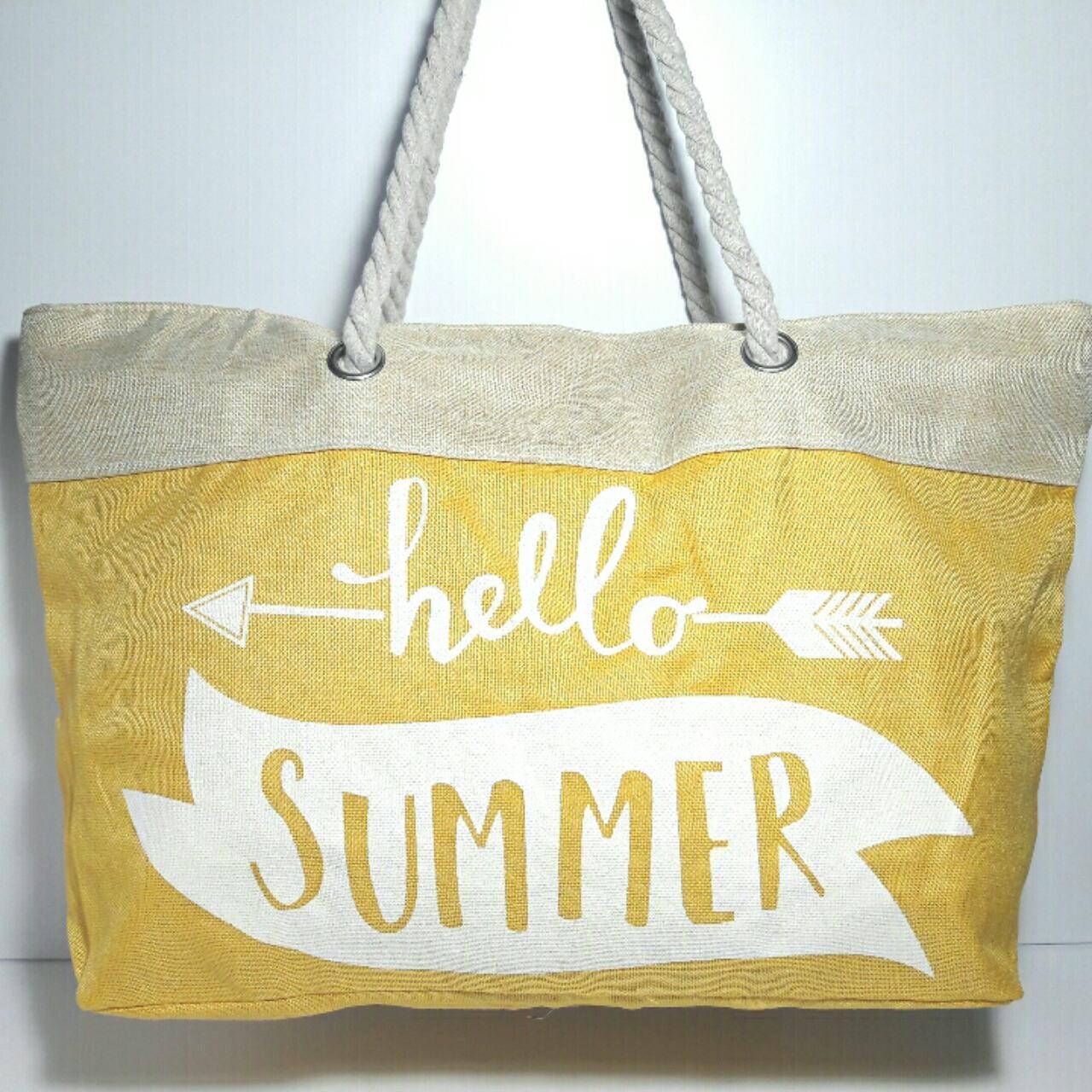 Сумка пляжная летняя текстильная Summer