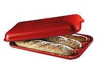 Форма для выпечки багета с крышкой Emile Henry SPECIALIZED COOKING красная (345506)