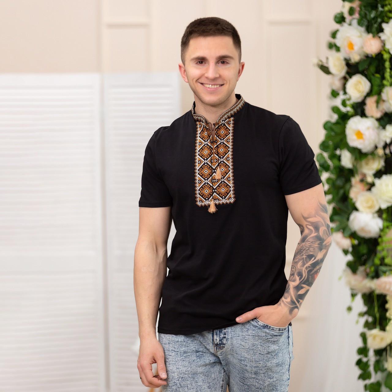 Чоловіча футболка з вишивкою хрестиком