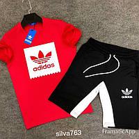 Спортивный мужской костюм Адидасфутболка + шорты(4 цвета)