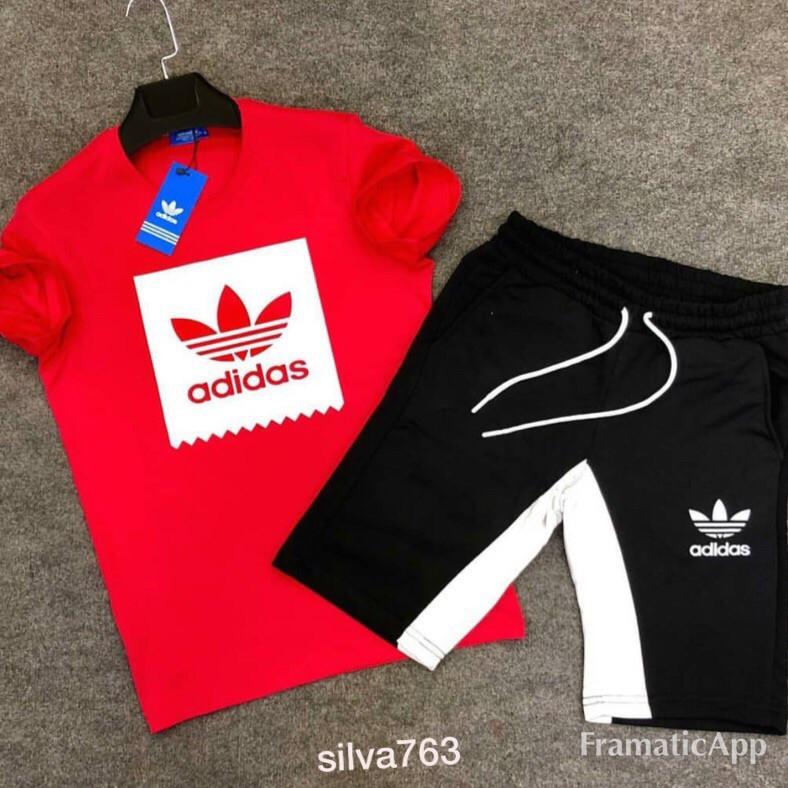 41c7eecfa4787 Спортивный мужской костюм Адидас футболка + шорты (4 цвета): продажа ...