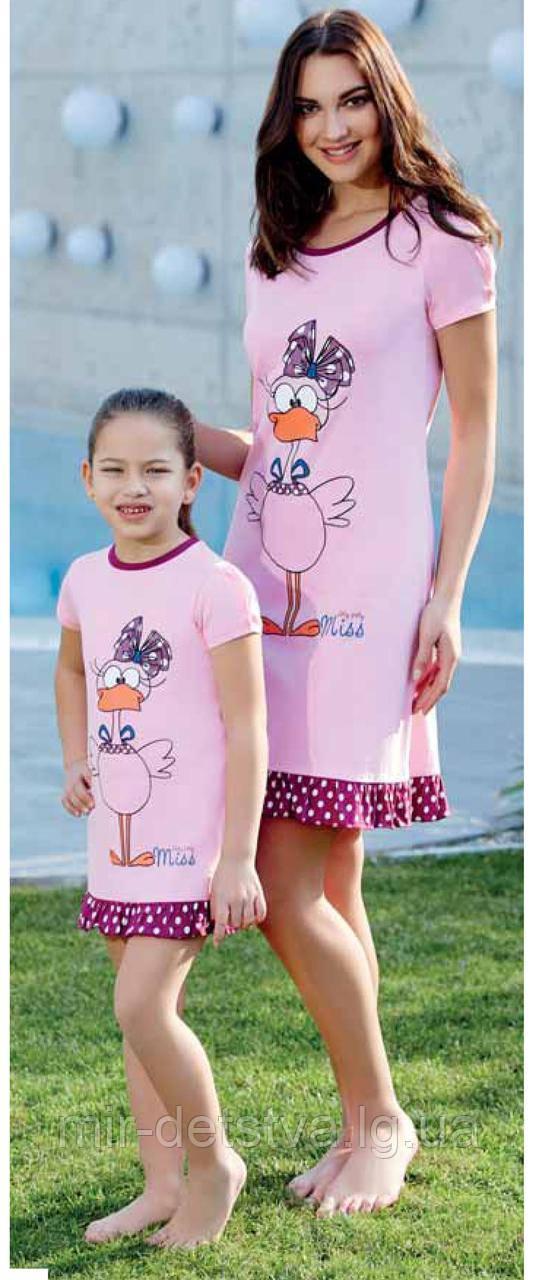 Ночная сорочка для девочки TM Roly Poly р.7 лет розовый
