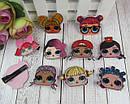 Детские заколки уточки для волос куклы LOL 4 см 10 шт/уп., фото 2
