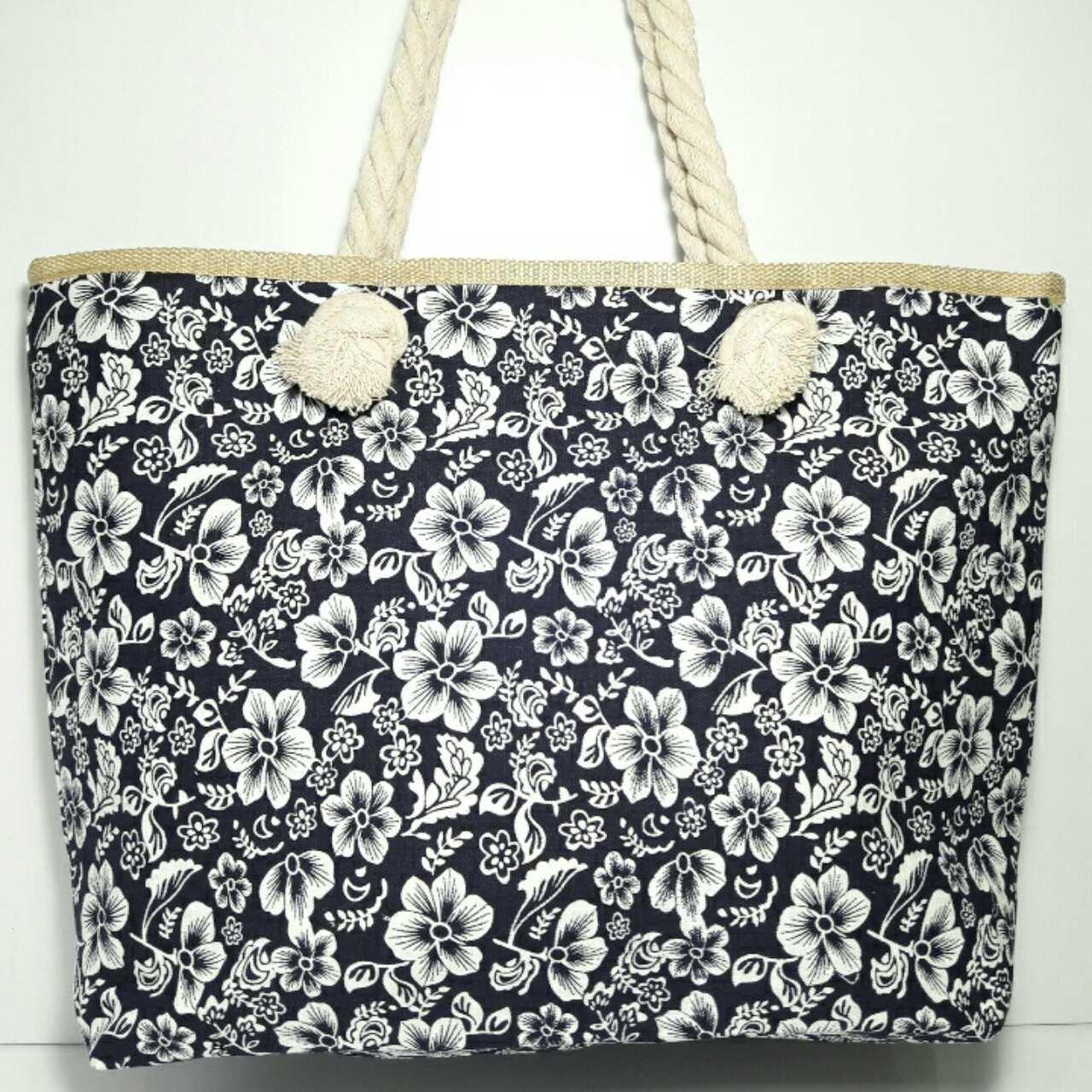Пляжная сумка текстильная летняя