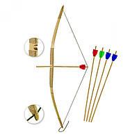 Лук детский бамбуковый Индеец 3, для активного отдыха, может понравиться как мальчикам, так и девочкам