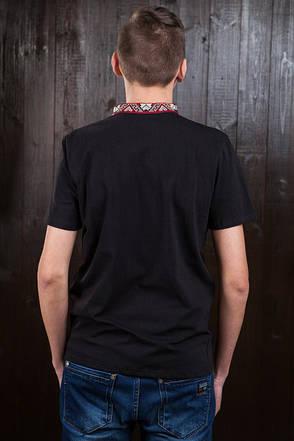 Черная футболка с яркой вышивкой, фото 2