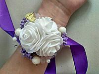 Браслет на выпускной с колокольчиком (фиолетовый)