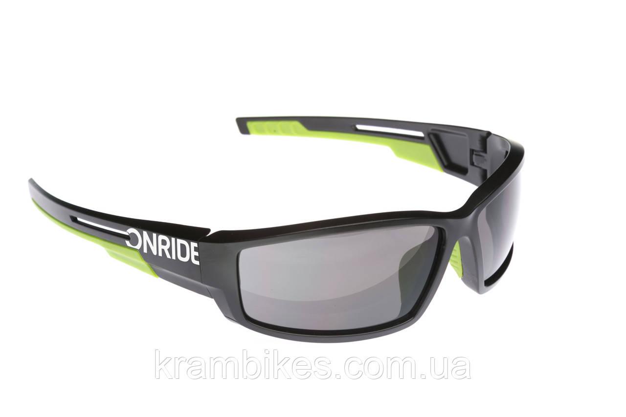 Очки Onride - Point Чёрный/Зелёный линзы: Smoke (Cat.3)