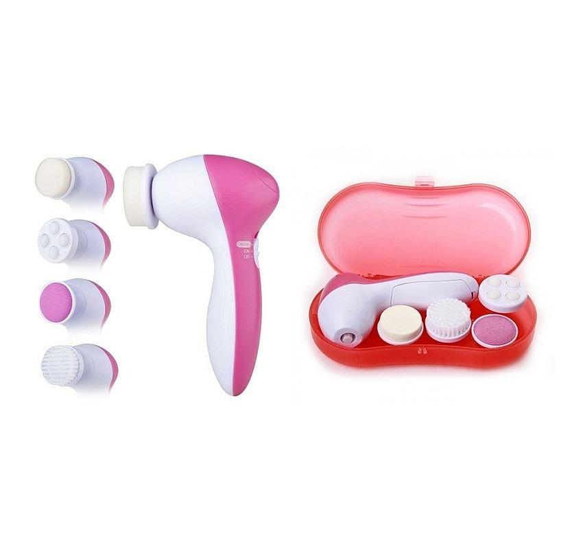 Массажер для лица Facial cleaning set Ae-8782c, 4 в 1