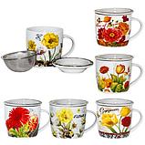 Чашка заварочная 'Цветы' 300 мл SNT 2107, фото 2