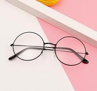 Имидж очки+Подарок; прозрачные круглые в черной оправе для подростков