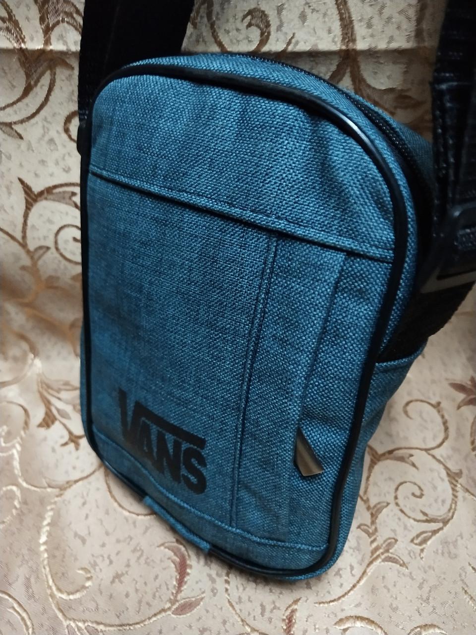 (18*14-маленький)Барсетка vans  сумка спортивные мессенджер для через плечо Унисекс ОПТ