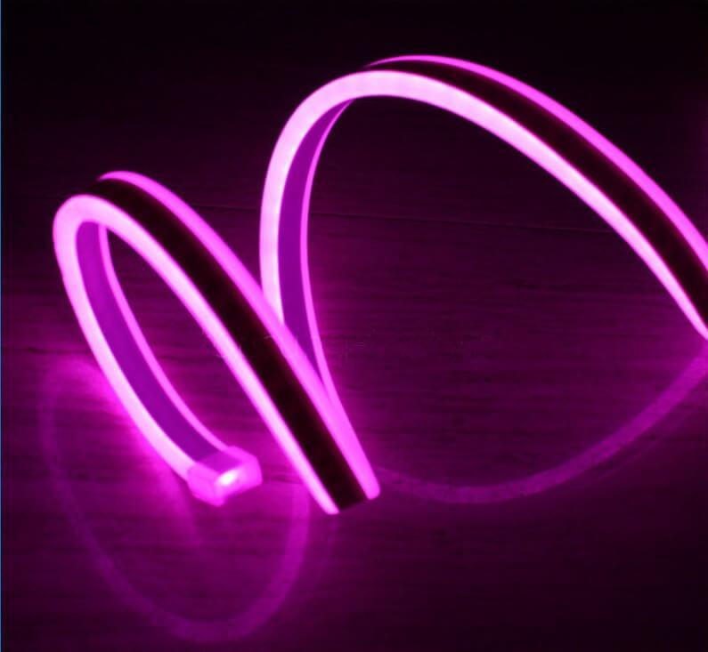 Двусторонняя LED неоновая излучающая лента LTL FLEX 8х16mm 120 LED 2835smd IP67 220v Pink