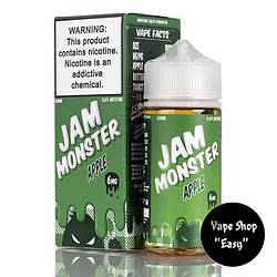 Жидкость Jam Monster Apple 100 ml 3 мг USA  Original.