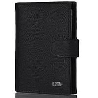 Бумажник водителя Wanlima Мужское кожаное портмоне с бумажником для водителя WANLIMA (ВАНЛИМА) W31559470053-black