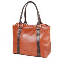 556c982ec2e8 Сумка повседневная (шоппер) Laskara Женская кожаная сумка LASKARA (ЛАСКАРА)  LK-DD210-cognac