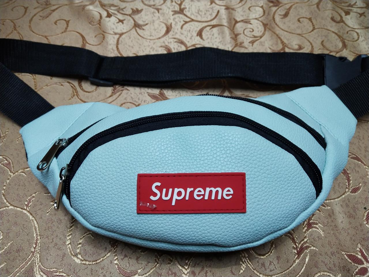 Хорошее качество сумка на пояс Supreme искусств. кожа барсетки сумка женский и мужские пояс только оптом