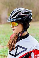 Шлем велосипедный с козырьком СIGNA WT-068 М (54-57 см) (черно-красный), фото 1