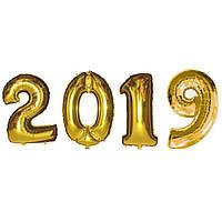 Фольгированые шары SoFun набор 2019 (100 см) золото