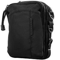 Сумка спортивная Fouvor Мужская сумка через плечо или на пояс  FOUVOR (ФОВОР) VT-2022-07-black