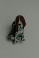 Брошь брошка значок Бассет хаунд пес собака металл кнопка эмаль качество!