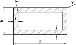 Труба прямоугольная алюминий 20х10х1 анод