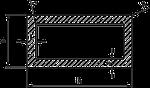 Труба 20х10х1 профильная алюминиевая  / AS