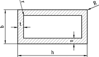 Труба 30х20х1,2 профильная алюминиевая, анод, фото 1
