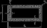 Труба профильная алюминиевая ПАС-1760 30х20х1,2 анод, фото 1