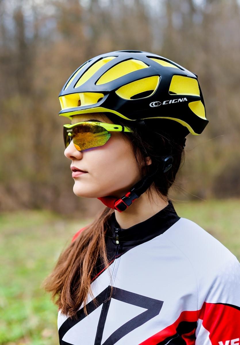Шлем велосипедный СIGNA TT-4 L (58-61 см) (черно-желтый)