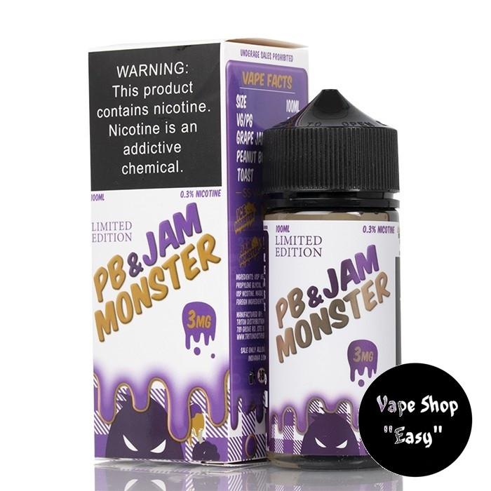 Жидкость PB Jam Monster Grape 100 ml 3 мг USA  Original.